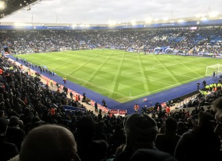 View of the pitch from the away end Leicester City