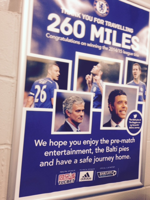 Nice Touch By West Brom To Travelling Chelsea Fans!,